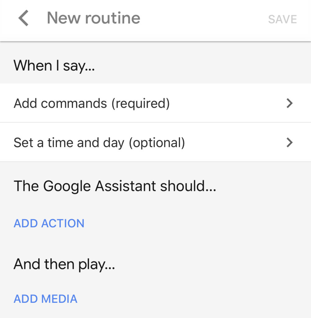 Google Smart Home Routines